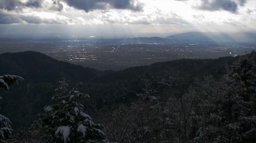醍醐寺山頂からの眺め