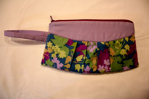 Purple leaves wristlet