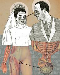 _ (pearpicker.) Tags: collage illustration skeleton groom bride poem drawing marriage halo