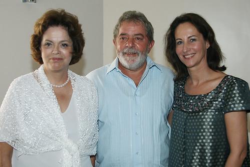 Ségolène Royal avec avec le Président brésilien Lula et la Présidente Dilma Rousseff