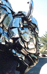 Chrome on the Range 1 (Outrageous Images) Tags: art buffalo colorado chrome bison reflexions grandjunction metalsculpture shinything artonthecorner outrageousimages davewadsworth statuechrome ameriicanbison bisonmetalsculpture
