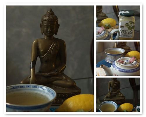 Cold time: ginger & lemon tea