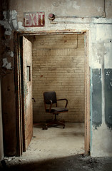 (hopefuldoubtful) Tags: urban brick industry chair factory decay exit decayed buffalocolorcorp