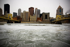 Frozen Allegheny (Matt Niemi) Tags: ice frozen pittsburgh bridges alleghenyriver