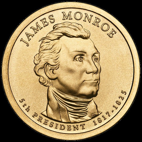 James Monroe Presidential $1 Coin — Fifth President, 1817-1825