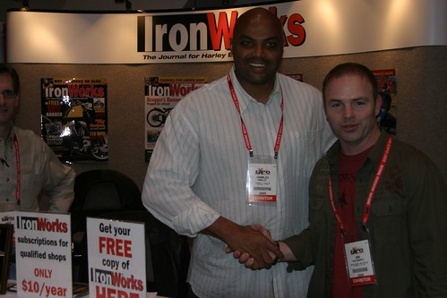 Sir Charles @ IronWorks Magazine's Booth