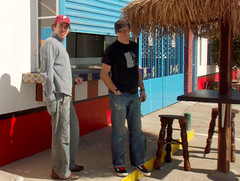 Muchahos at the taco stand (sfgirl) Tags: las mexico gaviotas