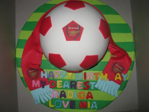 3D Arsenal Ball Cake for Radiga