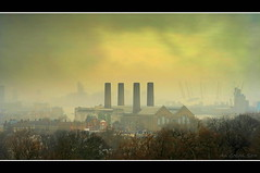 In Praise of Coal (An Gobn Saor) Tags: uk chimney london industrial greenwich o2 smokestack coal powerstation birkenstock eastend birkies millenniumdome mahisha coalfired pieceoflace theunforgettablepictures michelleinireland angobnsaor gobnsaor sgn inpraiseofcoal lecey grumpyknickers countycouncilarchitectsdepartment