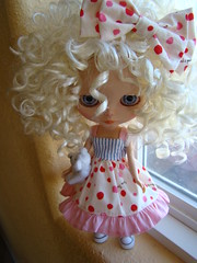 Miette shows off her new dress