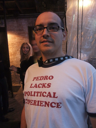 dave mcclure in a shirt that says pedro lacks political experience