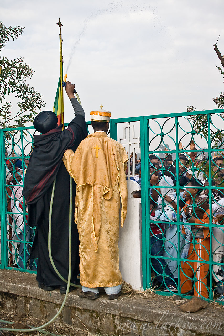 Holy Water Spray #3, Timkat (Epiphany), Addis Ababa, Ethiopia, January 2009
