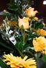 yellow flowers green flowers wedding photo