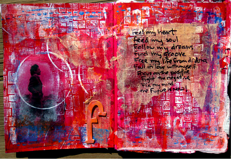 "Art Journal Page - ""F"""