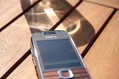 Nokia E75 under the sun top
