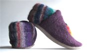 """FFS Lottery Hot Dot shoes """"Northwoods Sunset"""" Wool and Leather *2-3 yrs*"""