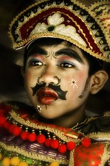 Balinese Barong Boys Series - Portrait of a Balinese Barong Performer #26 (Mio Cade) Tags: poverty travel boy shirtless portrait art boys be