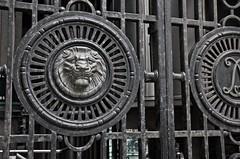 Lion Gates (DncnH) Tags: london iron gates lion lloyds leadenhallstreeet