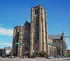 Cathedral of the Holy Cross, Boston (Craig Stevens <castevens12>) Tags: church cathedral belltower holycross washingtonstreet motherchurch bostonmassachusetts archdioceseofboston