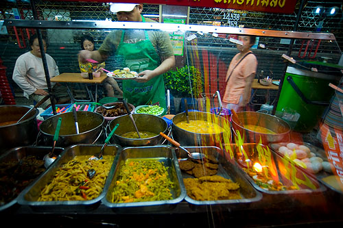Curries at Nay Yong, a stall in Bangkok's Chinatown