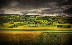 Variation On A Theme By Rilke (Abra K.) Tags: sky texture clouds landscape switzerland woods poetry poem jura poesia hdr deniselevertov ajoie grainfields variationonathemebyrilke