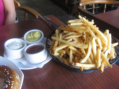 Monk's Kettle in San Francisco - Fries with curry and regular aioli and chipotle ketchup