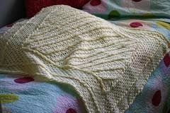 Diagonal baby blanket