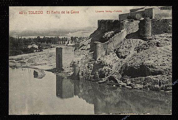 Baño de la Cava (Toledo) a principios del siglo XX. Foto Linares