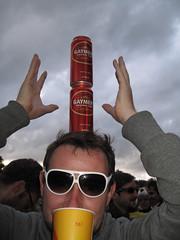 Lovebox Weekender (russelljsmith) Tags: uk friends england music london beer festival fun amazing concert victoriapark europe gig drinks drunks balance 2009 feats lovebox frivolity partier loveboxweekender 77285mm loveboxweekender2009 lovebox2009 lastfm:event=861454