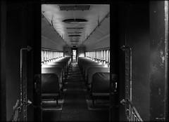 Emptiness (MEaves) Tags: blackandwhite bw monochrome pentax empty indiana rr blackdiamond railroadcar blackwhitephotos golddragon pentax1855 k10d pentaxk10d citrit
