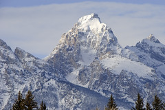 Grand Teton Peak in Winter (bhophotos) Tags: winter snow mountains nature landscape geotagged nikon tetons grandtetonnationalpark d80 geo:lat=43713196 geo:lon=110728143