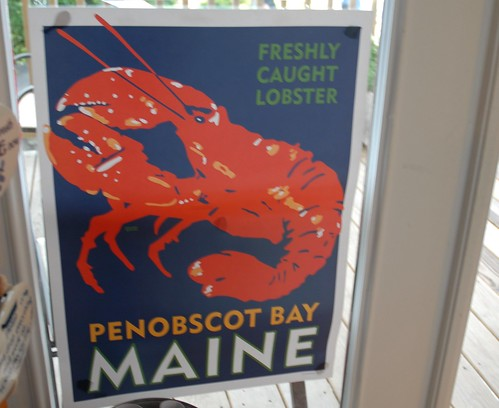 Penobscot Bay Maine Lobster Poster
