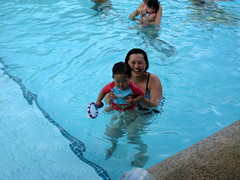 Swim class for Aki
