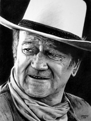 John Wayne 02 (pbradyart) Tags: portrait bw art pencil movie star sketch artwork drawing johnwayne pencildrawing filmstardrawing johnwaynedrawing westernactordrawing cowboydrawing johnwayneportrait