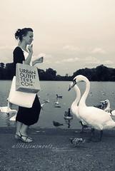 feeding. (allthosemoments) Tags: park london water girl agua hyde estanque feed palomas patos