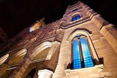 Notre Dame (tedjohnjacobs) Tags: blue canada window montral qubec oldtown superwideangle basiliquenotredamedemontral nikond90 tokina1116