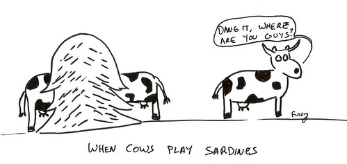 366 Cartoons - 194 - When Cows Play Sardines
