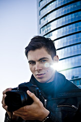 Nikita II (Alex Worren) Tags: camera blue portrait flare
