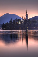 Bled sunrise (Bas Lammers) Tags: sunrise canon europe slovenia bled hdr photomatix 50d
