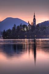 Bled sunrise (Bas Lammers) Tags: sunrise canon europe slovenia bled hdr photomatix 50d