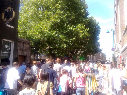 Wow.. Brick Lane is buzzin' this afternoon! :D