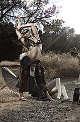 destiny (Taylor McCutchan) Tags: road sun mannequin face field animals alaska dead costume nikon paint dancing native bees alien belly dirt american destiny flare d300 octabox