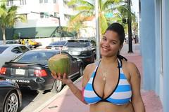 Hazel the Hottie (Chuck Diesel) Tags: black sexy smile boobies breasts tits boobs coconut miami young bikini massive huge melons cleavage southbeach thick redbone juggs bigtitties lightskin macromastia highyellow