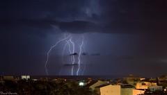 Rayos 2009 Sept (Popewan) Tags: lighting sea storm mar lluvia tormenta rayos stormlight metereologia llamps gotafria