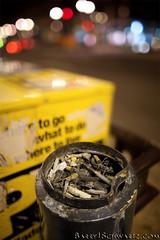 Street Ashtray (Barry J. Schwartz) Tags: philadelphia canon bokeh f14 14 philly ashtray 24l 5dmkii 5dmk2 barryjschwartzcom