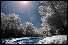 Munfordville 9 (soulgazephotography) Tags: blue trees sky white black water stars nikon kentucky space infrared d40 gothicamethyst munfordville hoyarm72 soulgazephotography amberflowers