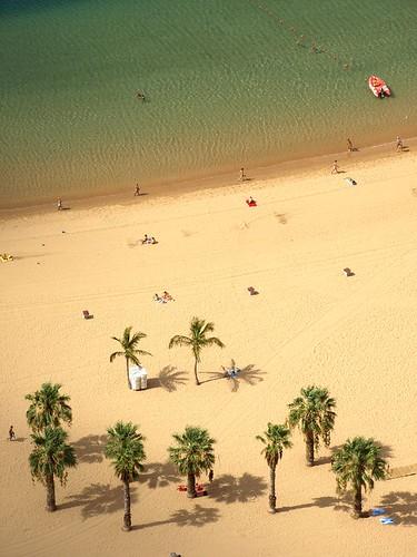 scene on the beach playa de las teresitas tenerife magazine