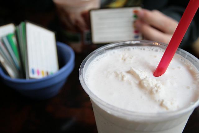 vanilla shake + trivia