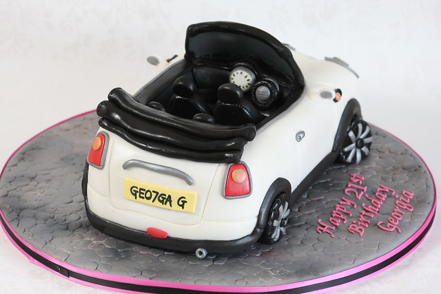 white car cake 3d convertible mini kingfishercakes