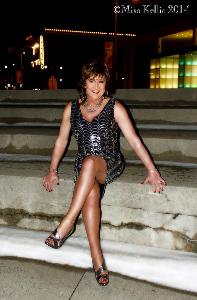 The Mardi Pardi Dress (Miss Kellie Keene) Tags: city woman sexy girl  beautiful